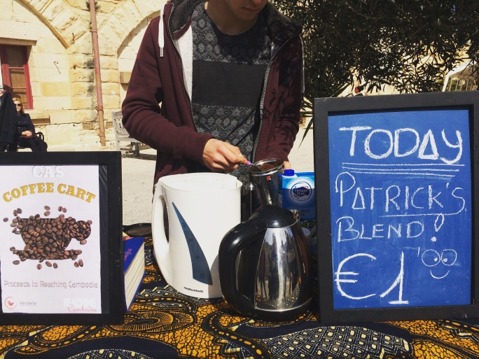 Student-run Coffee Cart in aid of Reaching Cambodia